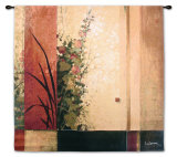 Hollyhock Garden II Wall Tapestry