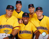 Carlos Beltran, Tom Glavine, Jose Reyes, Paul LoDuca and David Wright 2006 All Star Game