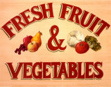 Fruits & Vegetables Sign