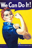 We Can Do It! (Rosie the Riveter) Mini Poster