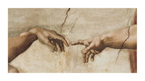 The Creation of Adam, c.1510 (detail) Art Print