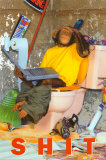 Sh*t- Chimp On The Toilet Poster