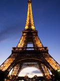 The Eiffel Tower at Dusk, Paris, France