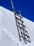Architectural Detail with Ladder, Taos, New Mexico, USA