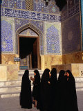 Women Wearing Full Chador Outside the Sheik Lotfollah Mosque, Esfahan, Iran