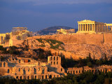 The Acropolis Taken from Phiopappos Hill, Athens, Greece Photographic Print
