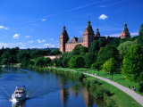 Renaissance Johannisburg Castle on Banks of Main River in Town of Aschaffenburg, Bavaria, Germany