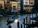 Buy Traditional Gondola Amongst Traffic on Grand Canal, Venice, Italy at AllPosters.com