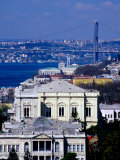 Bosphorus, Clock Tower and Dolmabahce Palace, Istanbul, Turkey