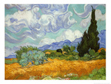 Wheatfield with Cypresses, c.1889 Art Print