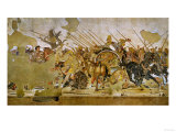 Battle Between Alexander the Great and King Dareios (Battle of Issos) Giclee Print