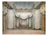Queen Louise's Bedroom, Schloss Charlottenburg, First Design, 1809-10