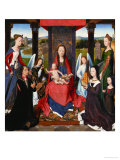 Triptych of John Donne, Central Panel: St. Mary and Child Surrounded by Saints, Angels and Donors