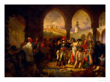 Bonaparte Visits the Plague-Ridden of Jaffa, Painted 1804