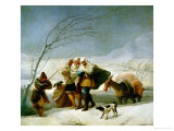 The Snowstorm (Winter), Cartoon for a Tapestry, 1786-1788