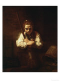 Buy Girl with a Broom, 1640 at AllPosters.com