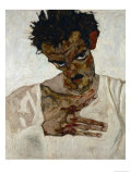 Egon Schiele, Self-Portrait with Bent Head, Study for Eremiten (Hermits)
