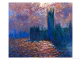 London, the Parliament; Reflections on the Thames River, 1899-1901