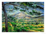 Buy Mont Sainte-Victoire with Large Pine-Tree, circa 1887 at AllPosters.com