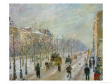 The Outer Boulevards: Snow, 1879 Giclee Print