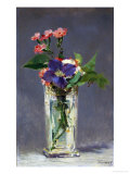 Carnations and Clematis in a Crystal Vase, 1882 Giclee Print