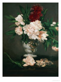 Vase with Peonies on a Pedestal, 1864 Giclee Print