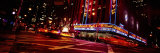 Buildings Lit Up at Night, Radio City Music Hall, Rockefeller Center, Manhattan, New York, USA
