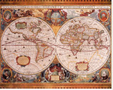 Antique Map, Geographica, c.1630