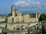 View from the North of the Old Centre of Urbino with the Cathedral Left and Palazzo Ducale Right
