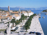 Promenade of the Medieval Town of Trogir, Unesco World Heritage Site, North of Split, Croatia