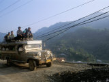 Truck Carrying Passengers on the Roof, Banaue, Island of Luzon, Philippines, Southeast Asia