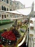 Buy Canalside Vegetable Market Stall, Venice, Veneto, Italy at AllPosters.com
