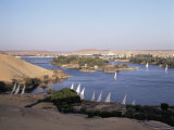 The River Nile, Including Kitcheners and Elephantine Island, Aswan, Egypt, North Africa, Africa