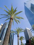 Downtown, Bonaventure Hotel in Background, Los Angeles, California, USA