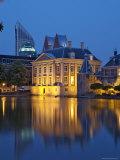 Mauritshuis at Night, Lake Hof Vijver, Den Haag, the Hague, Holland (The Netherlands)