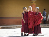 Buddhist Monks, Paro Dzong, Paro, Bhutan