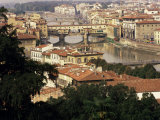 View Over the City Including the River Arno, Florence, Italy