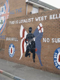Loyalist Mural, Shankill Road, Belfast, Northern Ireland, United Kingdom