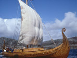 Replica, Oseberg, Viking Ship, West Norway, Norway, Scandinavia