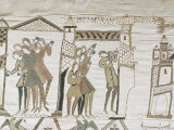 Crowds Point to Halley's Comet, February 1066, Bayeux Tapestry, Normandy, France