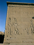 South Facade, Reliefs of Ptolemy XVI, Son of Julius Caesar, Late Ptolemaic