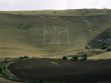 The Long Man, Wilmington, East Sussex, England, United Kingdom
