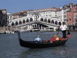 Buy Gondola on the Grand Canal Near the Rialto Bridge, Venice, Veneto, Italy at AllPosters.com