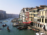 View Along the Grand Canal from Rialto Bridge, Venice, Unesco World Heritage Site, Veneto, Italy