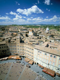 View Over Rooftops from the Torre Mangia in Piazza Del Campo, Siena, Tuscany, Italy