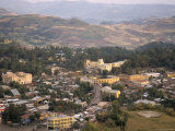 Aerial View of the Town Taken from Goha Hotel, Gondar, Ethiopia, Africa