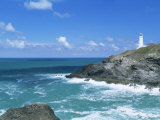 Trevose Lighthouse, Trevose Head, North Coast, Cornwall, England, United Kingdom