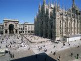 Buy Piazza Del Duomo, Milan, Italy at AllPosters.com