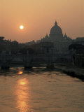 Buy River Tiber and the Vatican, Rome, Lazio, Italy at AllPosters.com