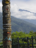 Totem Pole, Valley Scenery, Taiwan Aboriginal Culture Park, Pingtung County, Taiwan